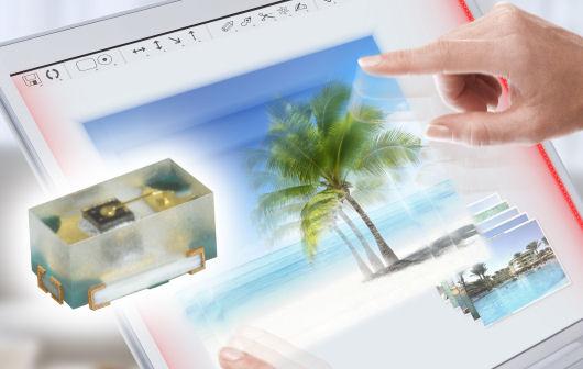 Neuartige IR-LED ermöglicht superflache Touchscreens