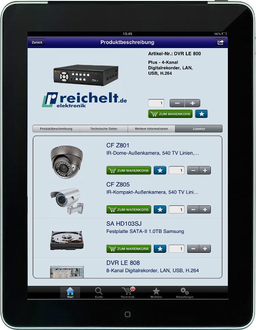 iPhone-/iPad-App von Reichelt
