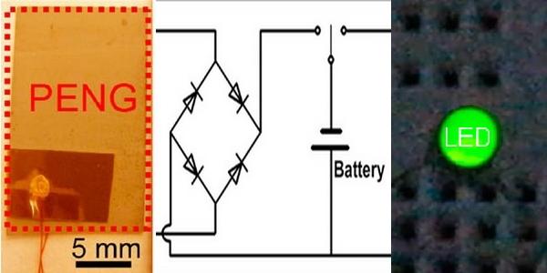 Energy Harvesting: pyroelektrischer Nanogenerator