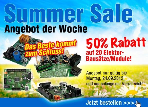 SUMMER SALE: 50% Rabatt auf 20 Bausätze/Module