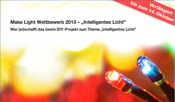 Make Light: Wettbewerb zu intelligentem Licht