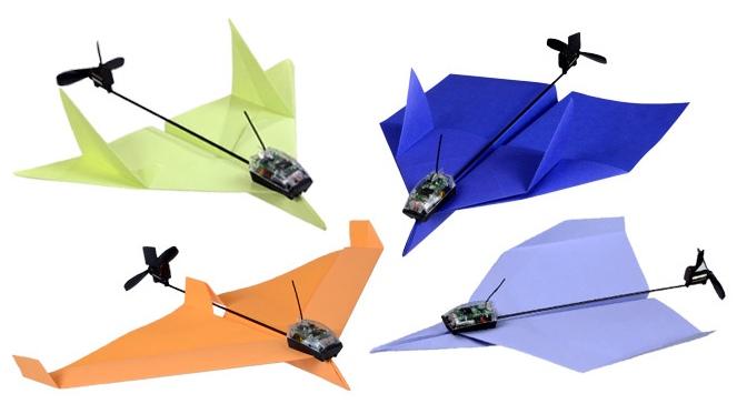 Papierflieger motorisieren