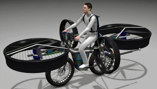 Fliegendes Fahrrad!?