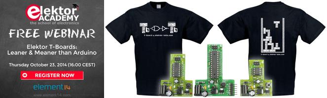 Neues Webinar: Elektor-T-Boards im praktischen Einsatz