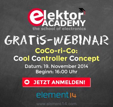 Jetzt zum Elektor-Webinar 'Cool Controller Concept' anmelden und gewinnen!