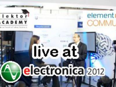 Elektor Academy bei Farnell element14 auf der Electronica