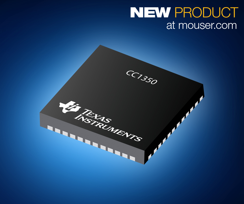 The TI CC1350 SimpleLink device integrates a flexible, very low-power RF transceiver with a powerful 48-MHz ARM® Cortex®-M3 microcontroller in a platform that supports multiple physical layers and radio frequency (RF) standards.