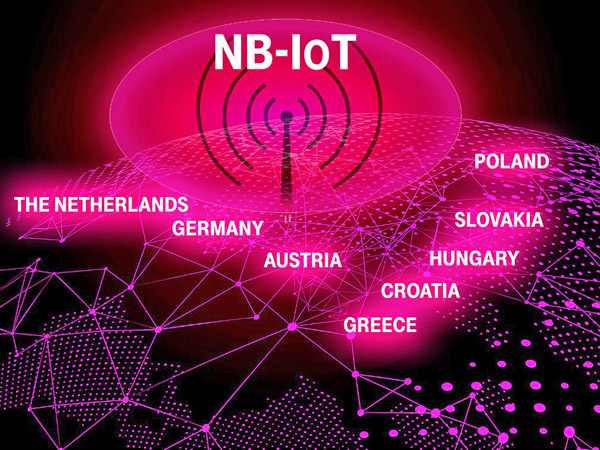 Europaweites Schmalband-IoT-Netz der Telekom. Bild: Deutsche Telekom