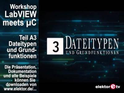 """Gratis für Elektor-Leser: Videokurs """"LabVIEW"""" (Teil 2)"""