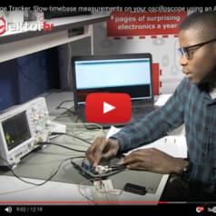 Voltage Tracker: Langsame Änderungen mit Oszilloskop dank Arduino-Shield erfassen