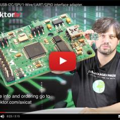 AxiCat: Universeller USB-I²C/SPI/1-Wire/UART/GPIO-Adapter
