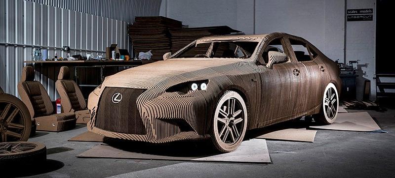 Elektroauto aus Pappe von Lexus
