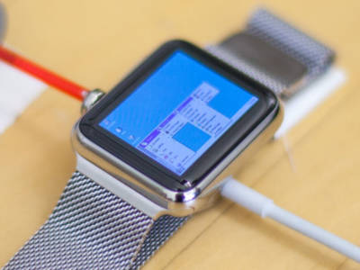 Windows 95 auf einer Apple Watch