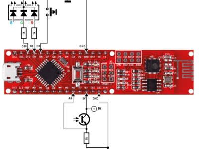 Mit ein paar Bauteilen erhalten wir ein Sensor-Board, das Messwerte in die Cloud senden kann.