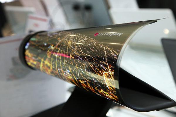 Aufrollbares OLED-Display