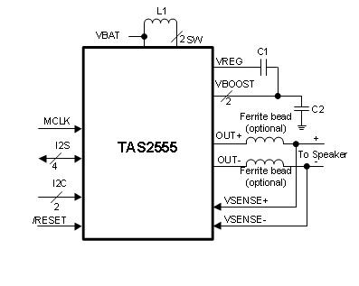 Das IC TAS2555 liefert fast 7W