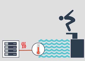 In Paris soll das Wasser eines Schwimmbads in Zukunft mit Computer-Servern geheizt werden