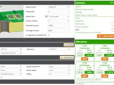 Review: PCB Configurator von Eurocircuits