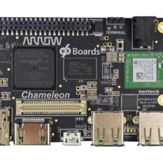 Demonstration des Board Chameleon96 von Arrow Electronics auf der Embedded World 2017.