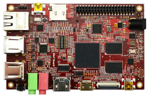RIoTboard mit vielen Anschlussmöglichkeiten