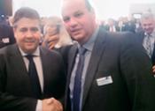 Wirtschaftsminister Gabriel besucht Frei-Stand