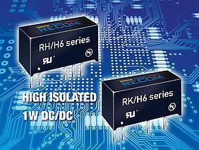 1 Watt DC/DC-Wandler mit 6.4kVDC Isolation