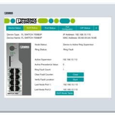 Faceplate-Visualisierung für einfache Switch-Diagose