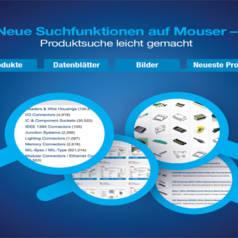 Mouser Electronics macht das Finden von Produkten auf Mouser.com für Kunden noch einfacher und schneller