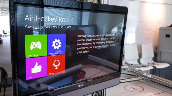 Airhockey mit Windows 10 for IoT