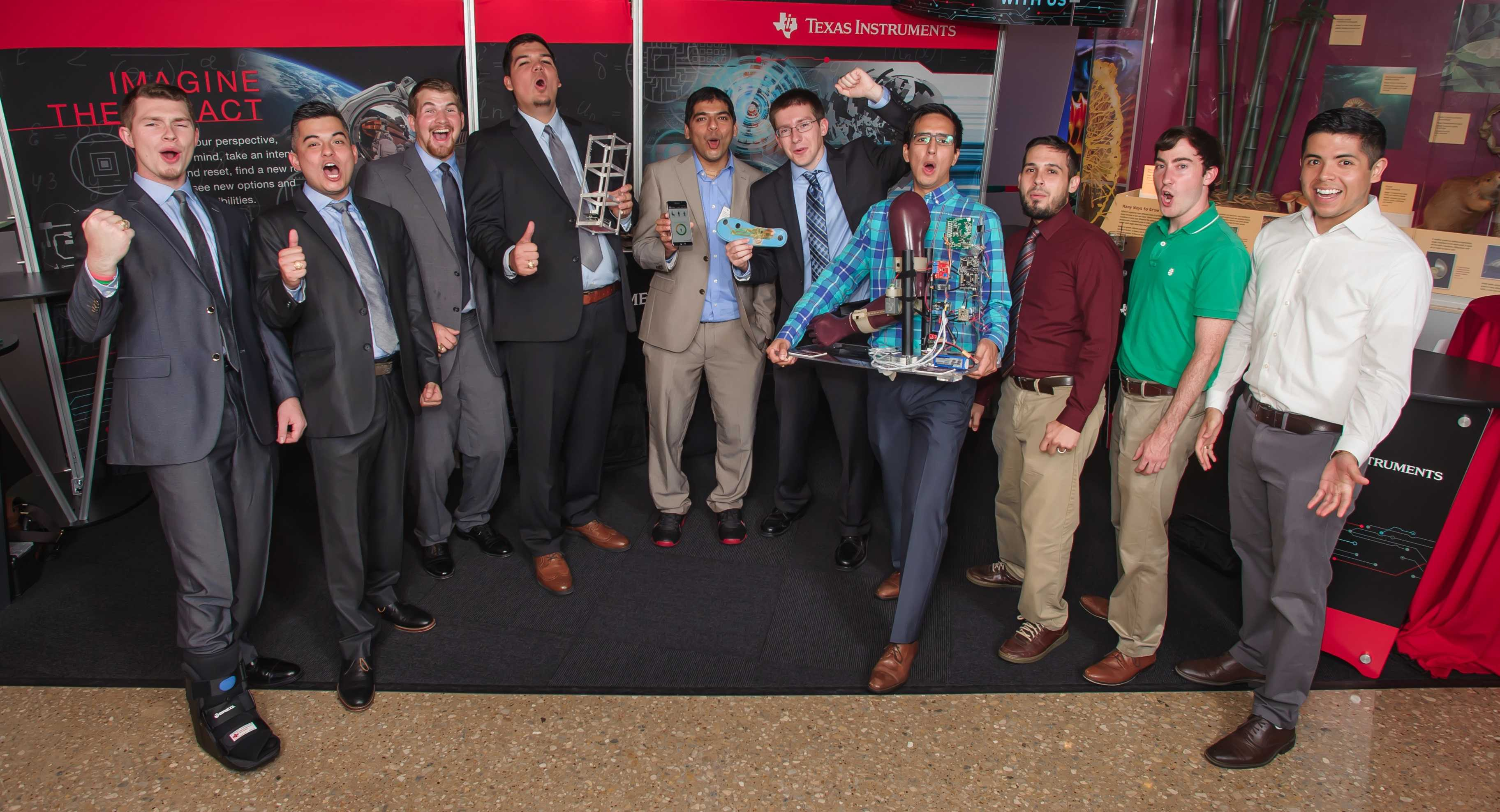 The winners of the Texas Instruments Innovation Challenge North America Design Contest.