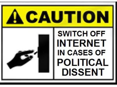 Jemand möchte das Internet abschalten