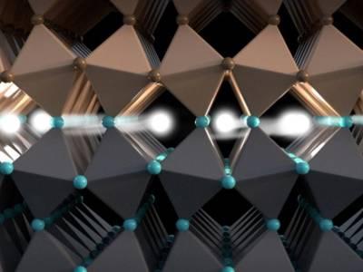 In dieser leitfähigen Schicht zwischen zwei Isolatoren wird der Elektronen-Spin transportiert. Bild: Christoph Hohmann / NIM