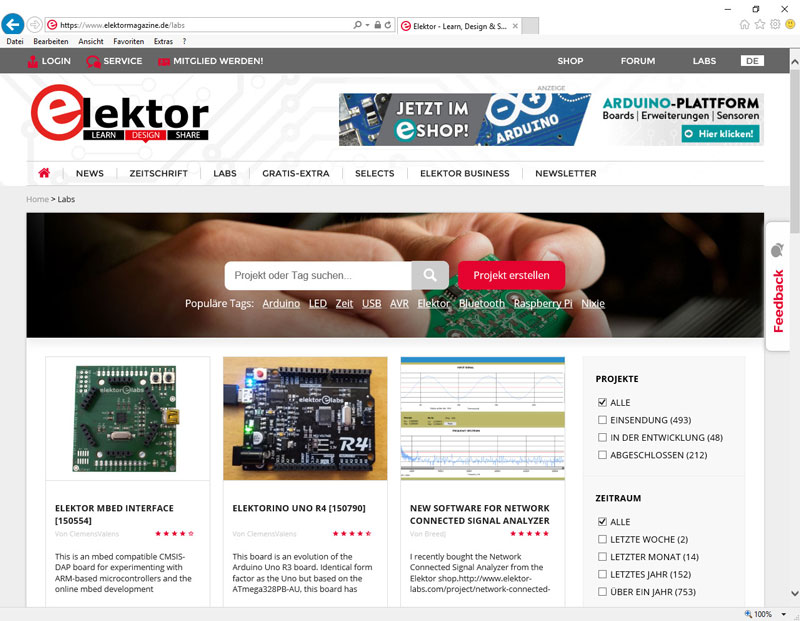 Elektor-Labs: Das User-Manual