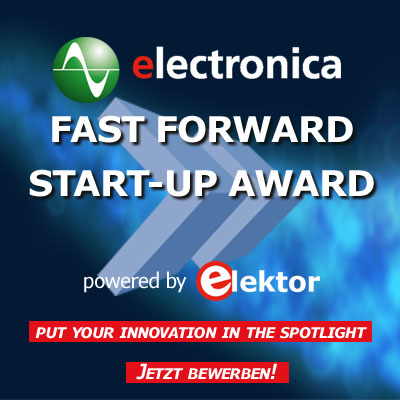 electronica fast forward Start-up Award powered by Elektor
