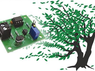Bild 2: Für den mechaniklosen Windstärkemesser haben wir eine Platine entworfen.