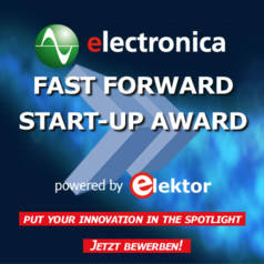electronica fast forward Start-up Award powered by Elektor